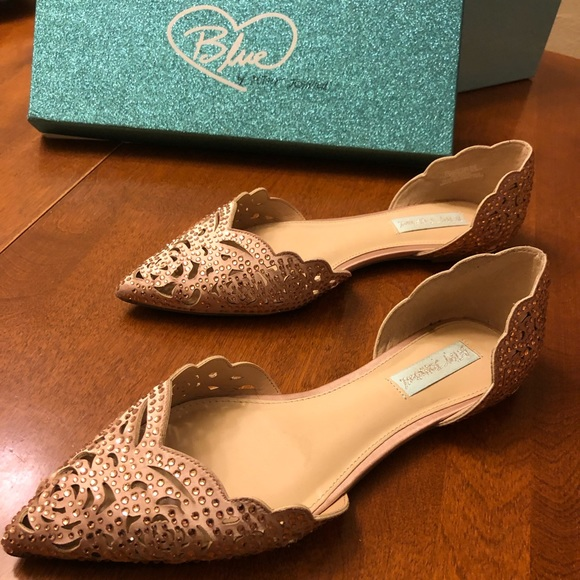 45e3454cfe7b Betsey Johnson Shoes - Blue by Betsey Johnson - Lucy Embellished Flats